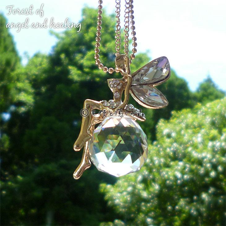 妖精フェアリーネックレス天使の羽ペンダント001